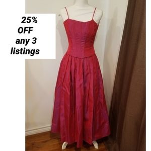 vintage red ball gown Jessica Mclintock sz 3/4